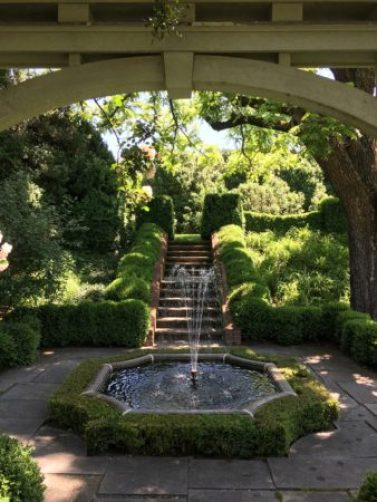 Stairs into Rose Garden at Mount Sharon/Photo: Here By Design