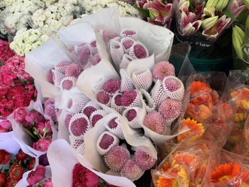 Fresh flowers newly arrived at Ho Chi Minh flower market