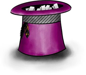 Purple idea hat