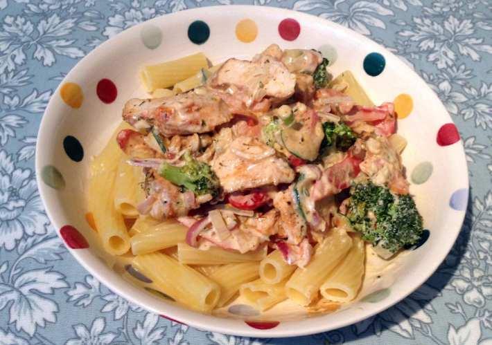 Katie Coyote's Grilled Chicken Pasta