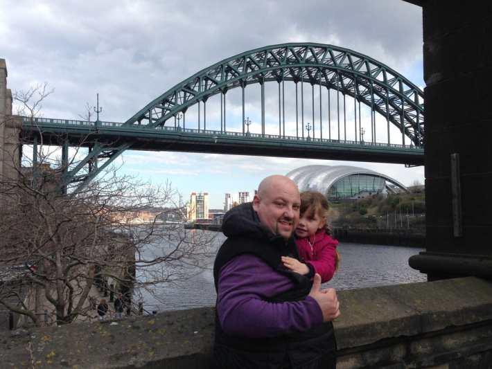Chris and Emily at the Tyne Bridge
