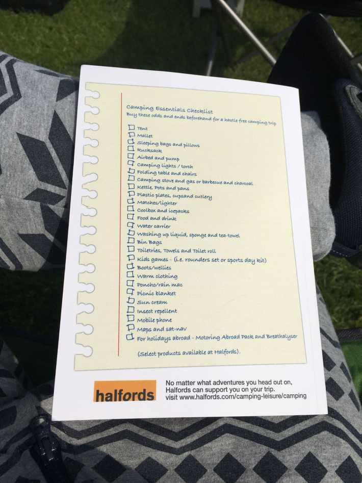 Back of Guide Checklist