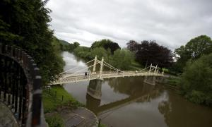 Picture of the Vicky Bridge Hereford with Hereford plumbing