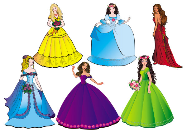 Keywords: Beautiful, Princess, Cartoon, Character, Beauty
