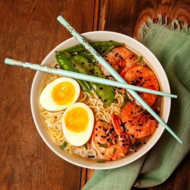 delicious ramen noodle dish