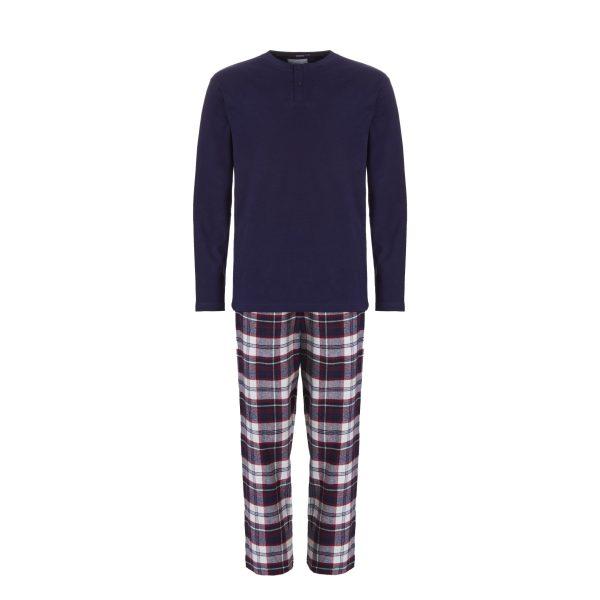 Ten Cate Heren Pyjama Donkerblauw-M
