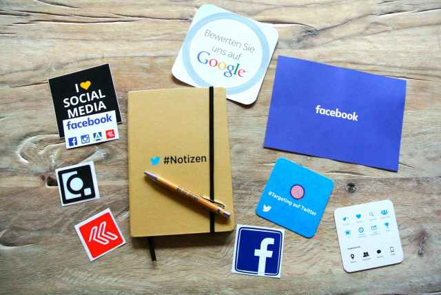 facebook instagram network notebook