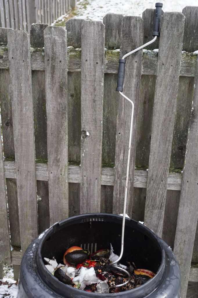 Compost Crank inside Composting Bin