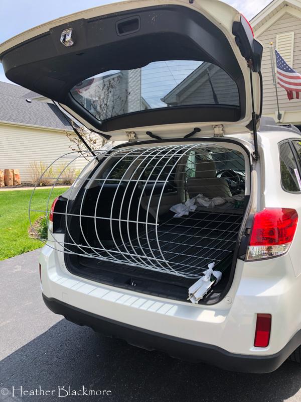 hog panel in car