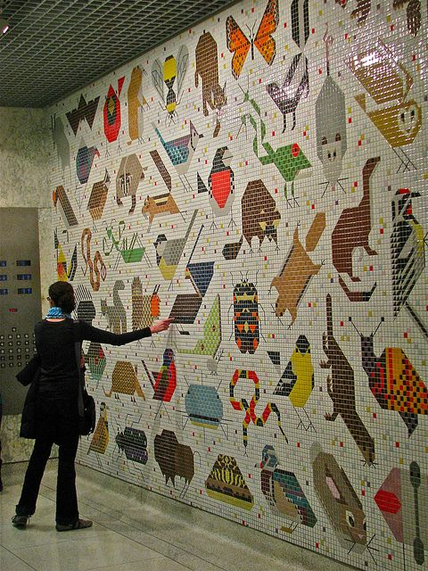 Tile Mosaic Cincinnati Court House