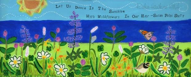 Wildflower Field with watermark