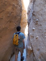 Most of the slot canyon is beyond the collapses