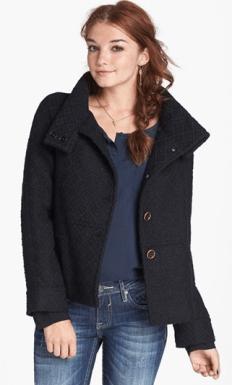 Funnel Collar Coat - $68