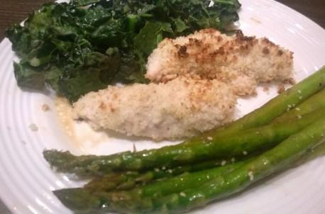 Chicken, Asparagus & Kale Dinner
