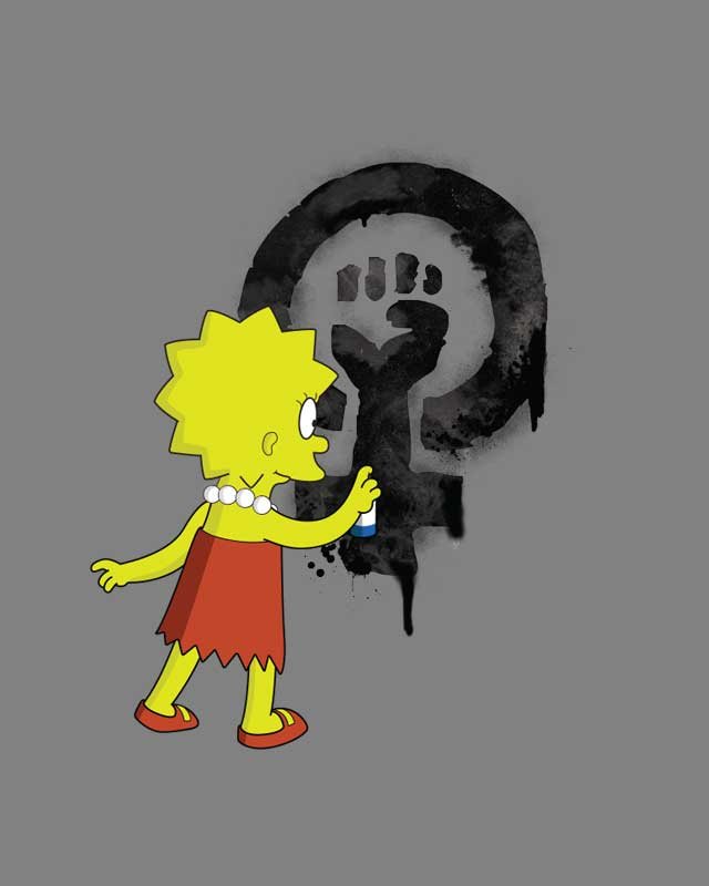 Lisa Simpson Feminist T Shirt From Heretic Wear