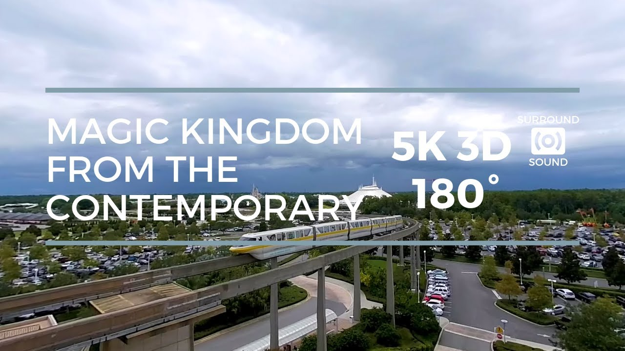 Magic Kingdom from the Contemporary (5K 3D 180°)