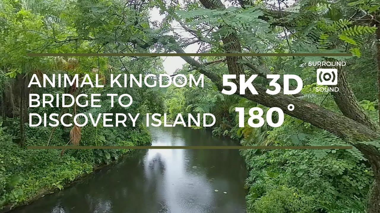 Oasis to DIscovery Island Bridge (5K 3D 180°)