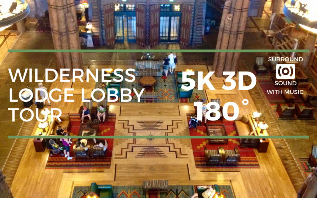 Wilderness Lodge Lobby Tour (5K 3D 180°)
