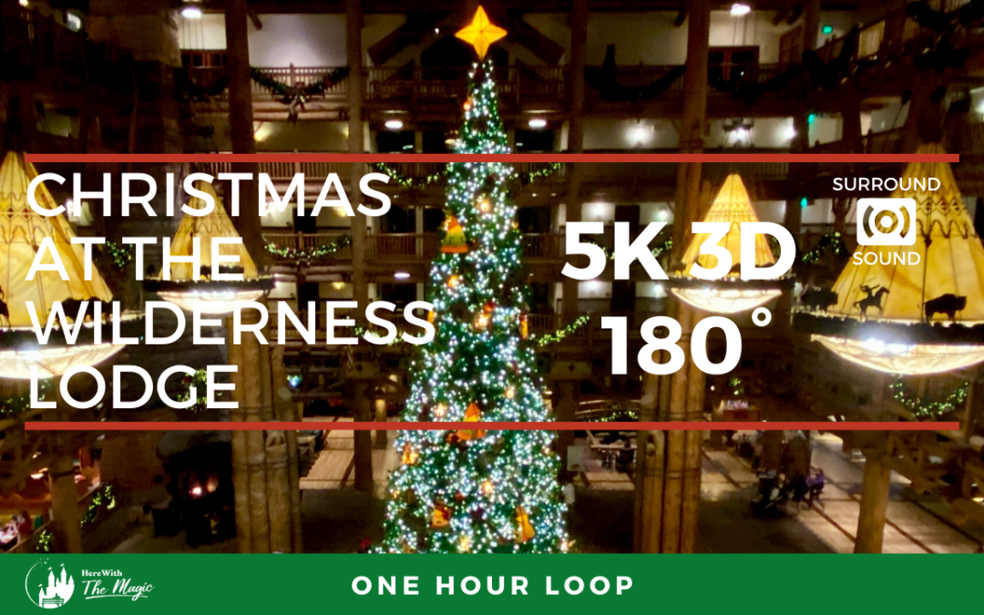 Christmas at Disney's Wilderness Lodge (5K 3D 180°) 1 Hour Loop