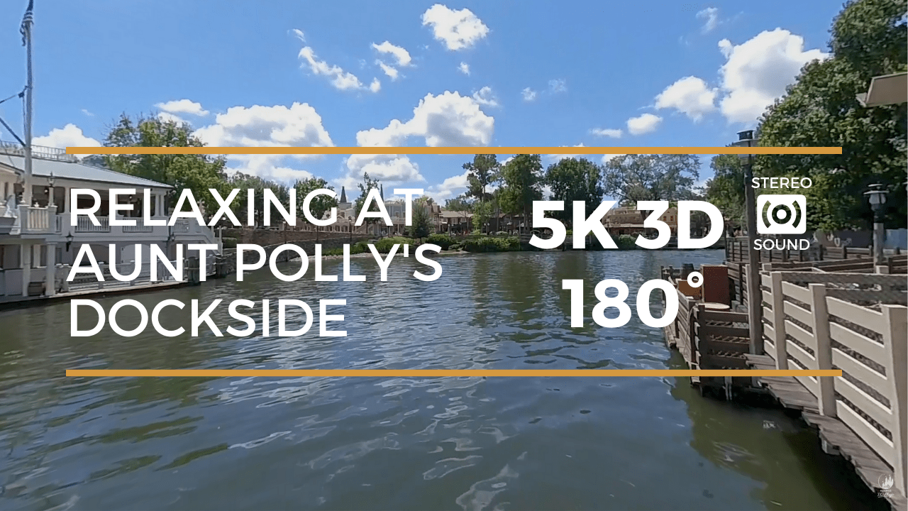 Relaxing at Aunt Polly's Dockside  (5K 3D 180°)