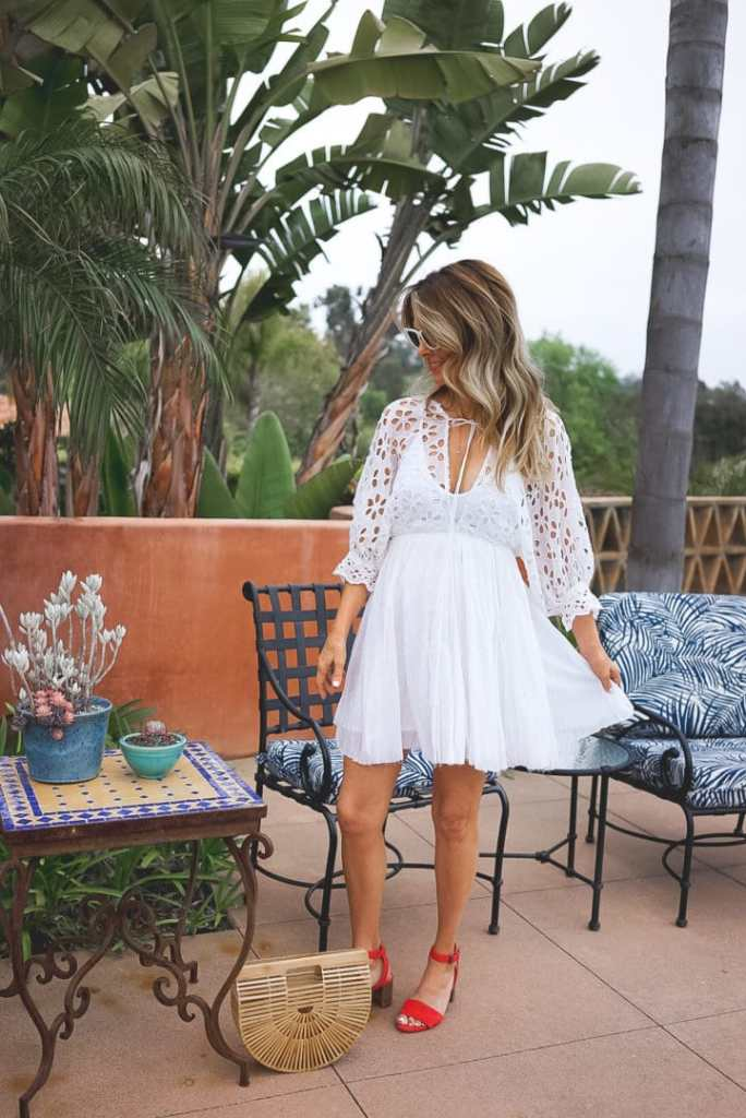 Summer White Dress for Vacation