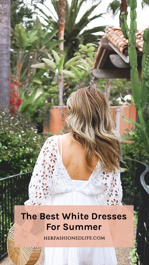 Best White Dresses For Summer Pin Button