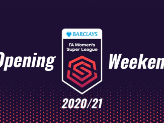 Barclay's FA Women's Super League opening weekend logo.