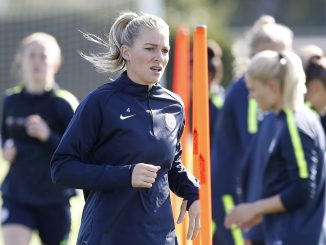 Gemma Bonner training with Manchester City.