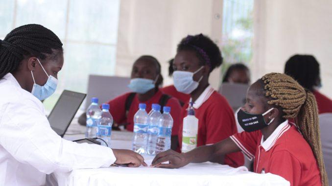 Kenya players receive COVID-19 vaccine.