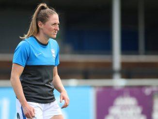 Birmingham City's Rebecca Holloway warms up.