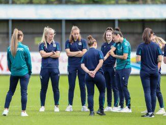 Blackburn Rovers warm up.