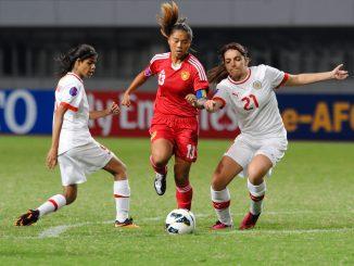 Fan Yuqiu of China against Bahrain.