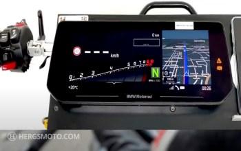 New larger BMW Motorrad TFT display