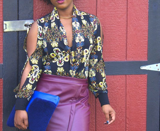 How to Style a Faux Leather Skirt