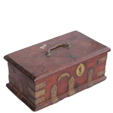 Vintage Wooden Cash Box Made in India for Sale