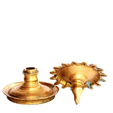Mrityunjaya Oil Lamp Antique Bronze
