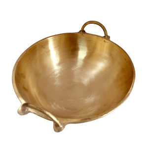 Kerala Cheenachatti Special Brass Kadai, Karahi, Frying Pan for Cooking Serving Food