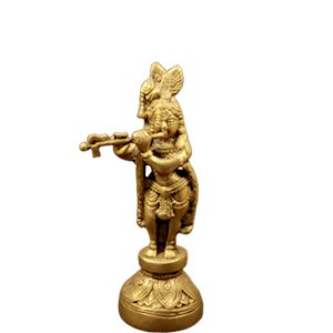 Lord Krishna Idol Brass made Statue for Home Worship