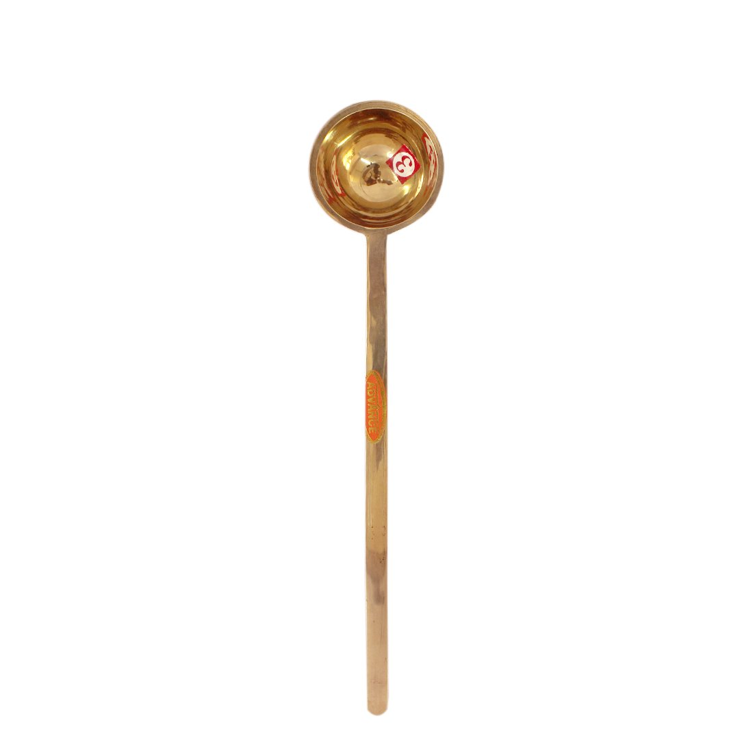 Handmade Brass Ladle for Kitchen Solid Food Serving Spoon