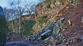 Rear of Nunckley Quarry