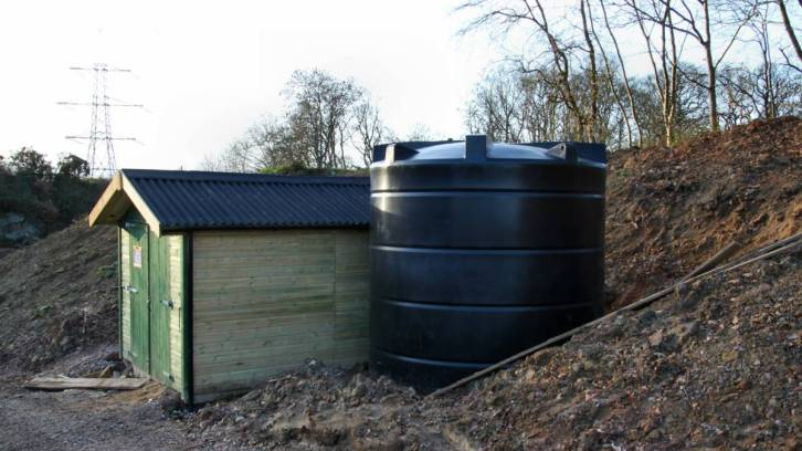 RO Shed and water tank