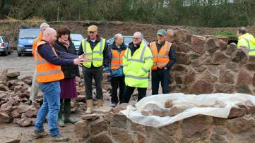 Nicky Morgan at Stonemasons' huts