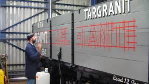 wagon sign writing