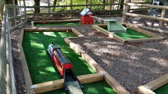 Crazy Golf holes 7 and 8