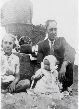 Pearce family at Petone Beach, c1929 (http://bit.ly/2kIHsol)