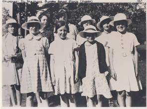 St. Stephen's Sunday School class on a picnic outing, 1937 (http://bit.ly/2oYce24)