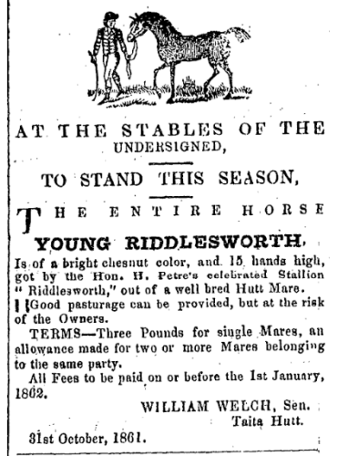 Screenshot_2020-04-20 Papers Past Newspapers Wellington Independent 1 November 1861 Page 2 Advertisements Column 4
