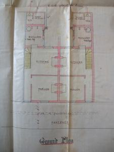 Ground Floor Plan. G24/760/791 Copyright Swindon Borough Council, care of Wiltshire and Swindon Archives.