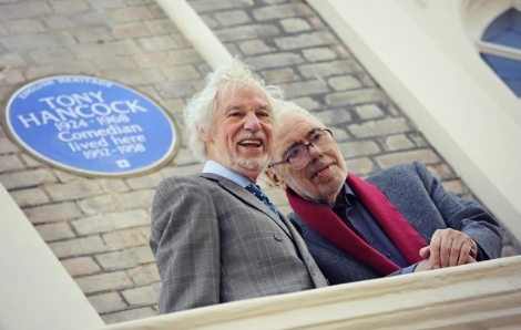 Ray Galton and Alan Simpson, the writers of Hancock's Half Hour