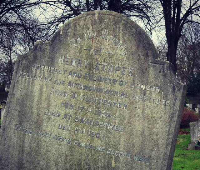 Fig 8 Henry Stopes grave Swanscombe